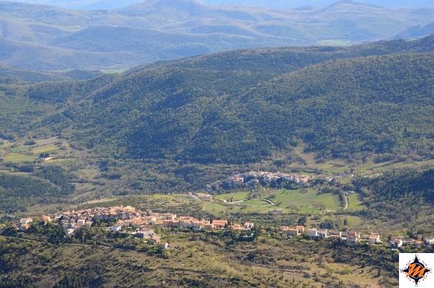 Vista su Castelvecchio Calvisio e Carapelle Calvisio da Rocca Calascio