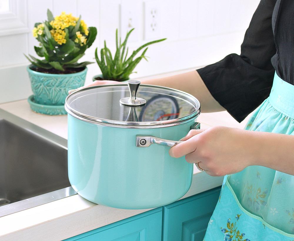 Turquoise Non-Stick Pots