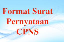 Format Surat Pernyataan CPNS Terbaru