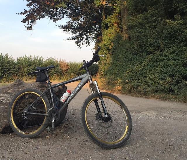 Evening mountain bike ride