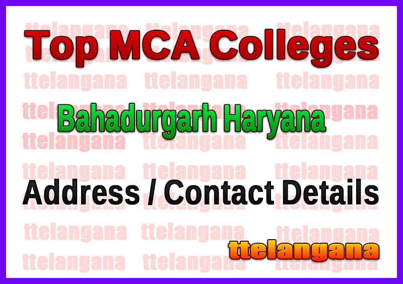 Top MCA Colleges in Bahadurgarh Haryana