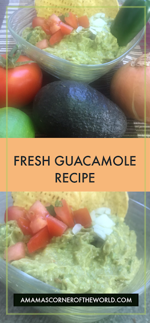 Pin this recipe for easy fresh guacamole