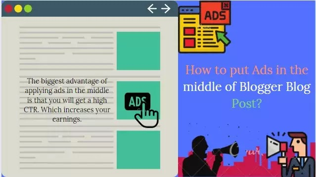 Blogger blog post middle AdSense Ads