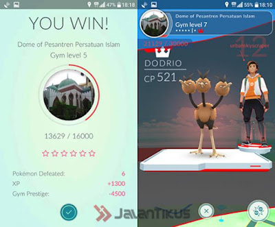 Cara Cepat Naik Level Pokemon Go , memenangkan gym