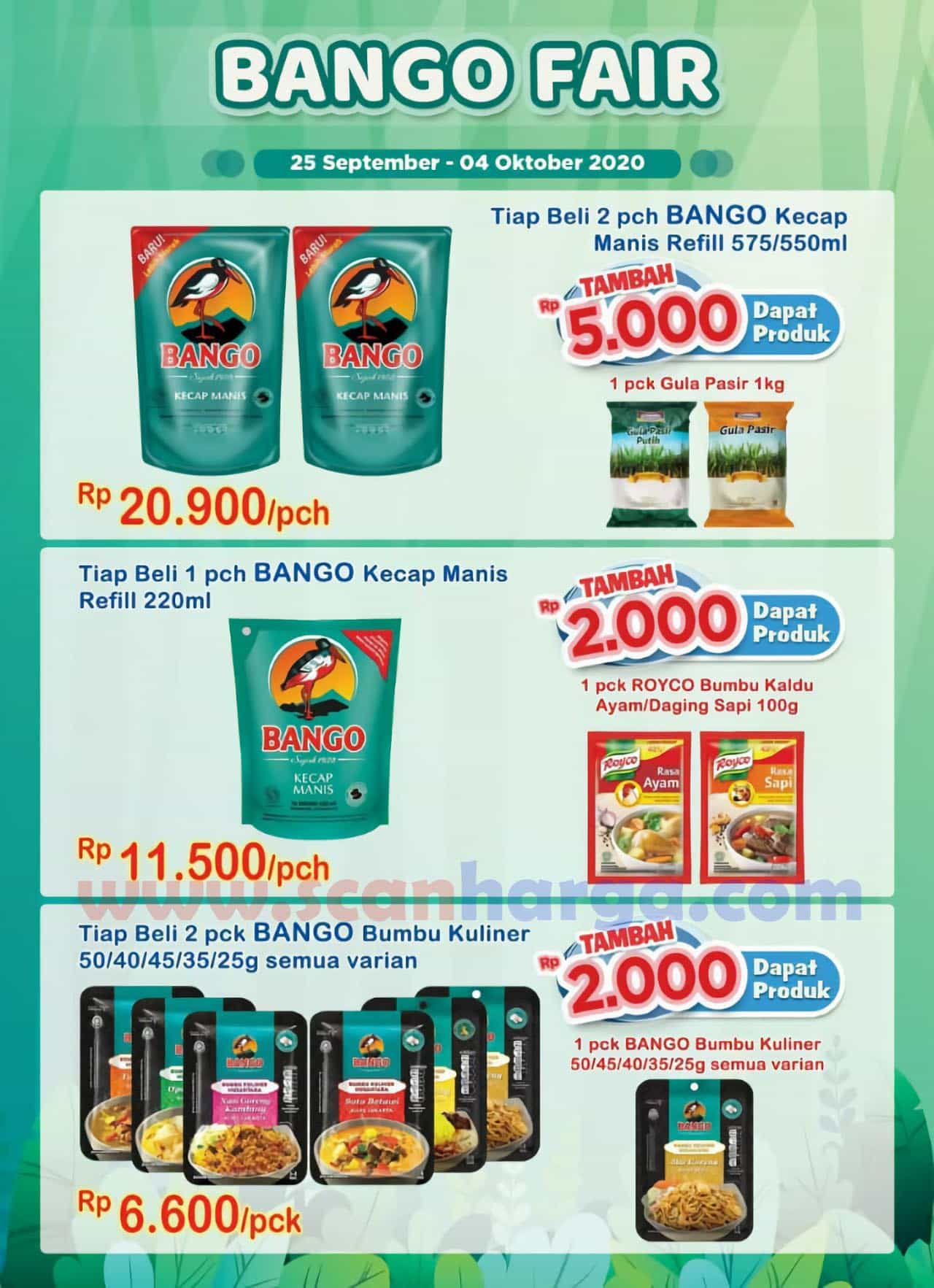 Promo Indomaret BANGO FAIR Periode 25 September - 4 Oktober 2020