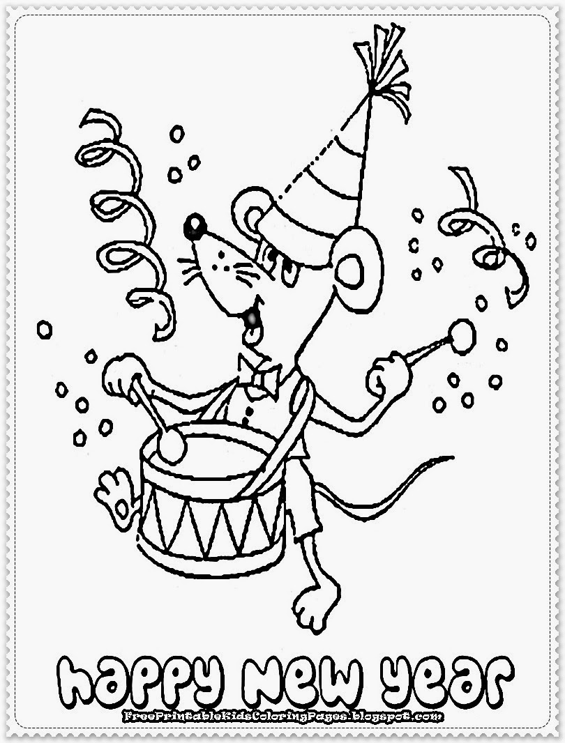 new year coloring pages 2013 |