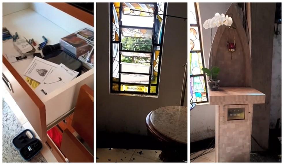 Sacrário com hóstias e objetos são furtados de igreja em Rio Preto