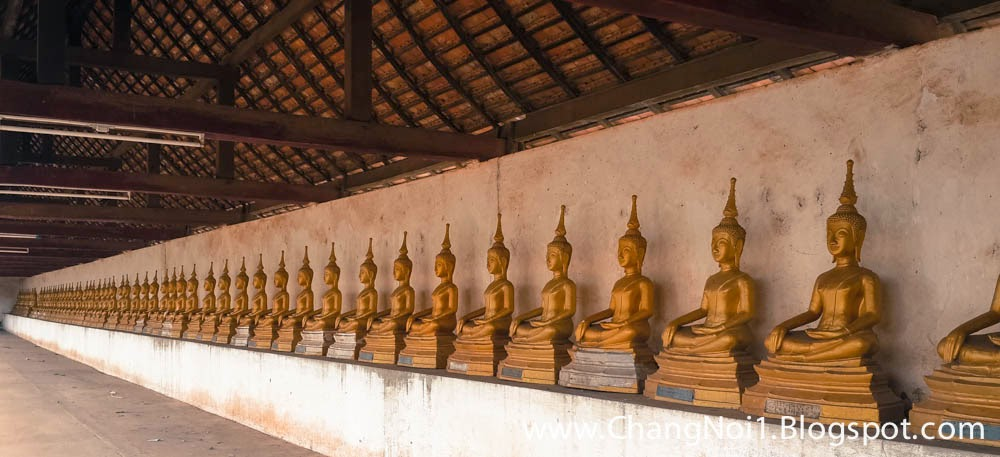 Visiting That Ing Hang stupa in Savanakhet, South Laos