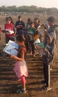 Unique exepriment of reading while walking on the sea beach at onjal village