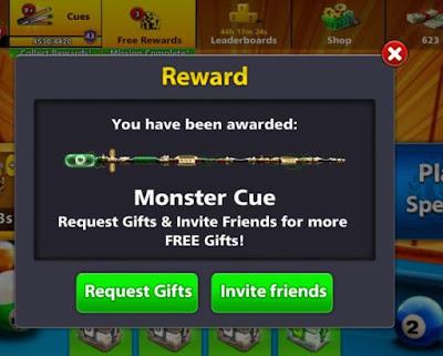 8 Ball Pool Free Capo Cue Reward Link