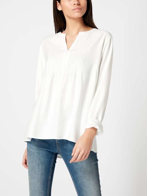 maison de nimes pintuck blouse