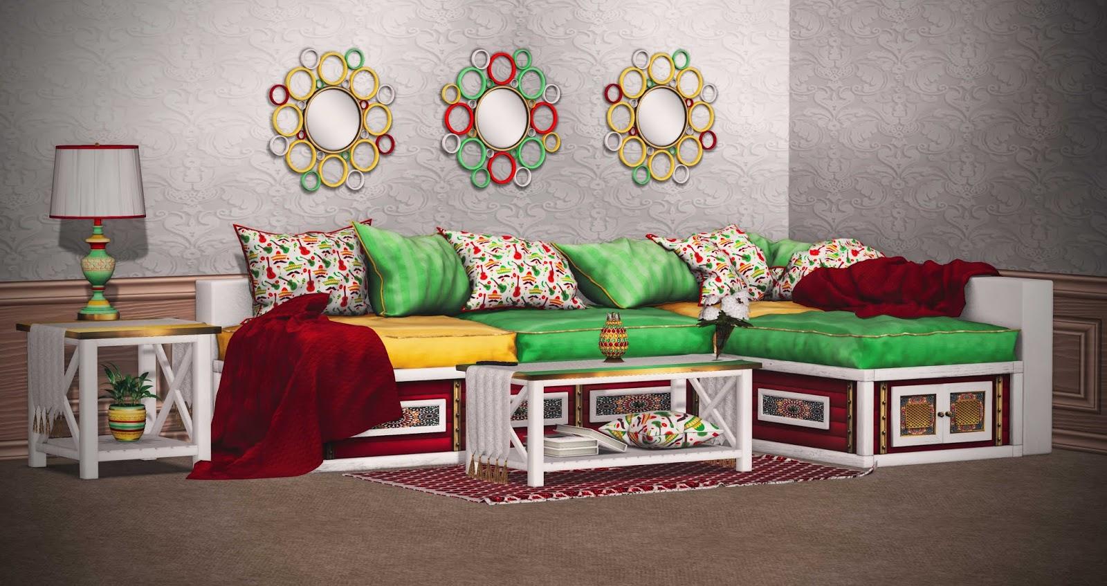 The Fiesta Pedestal Living Room Set