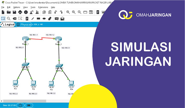 Simulasi Konfigurasi Routing Static 2 Router di Cisco Packet Tracer
