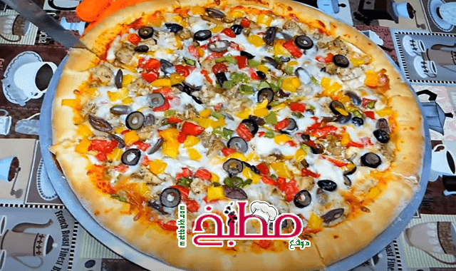 طريقة عمل البيتزا مطبخ ساسى