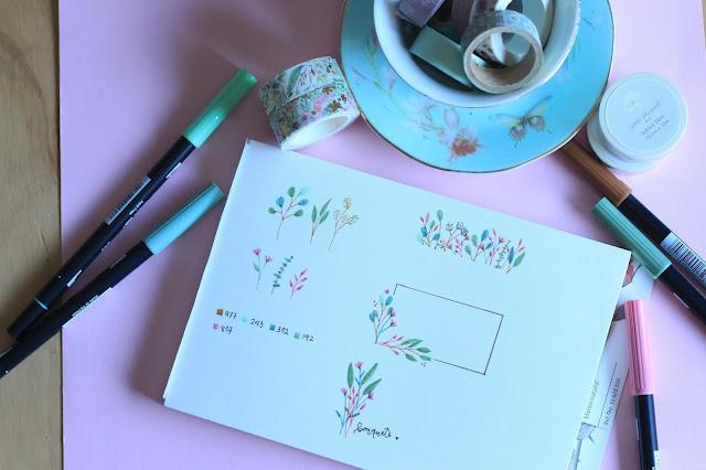 Descargable: ramos y tallos para dibujar marcos de flores