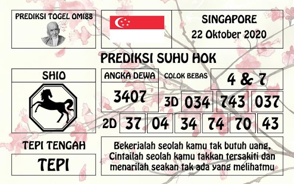 Kode syair Singapore Kamis 22 Oktober 2020 141