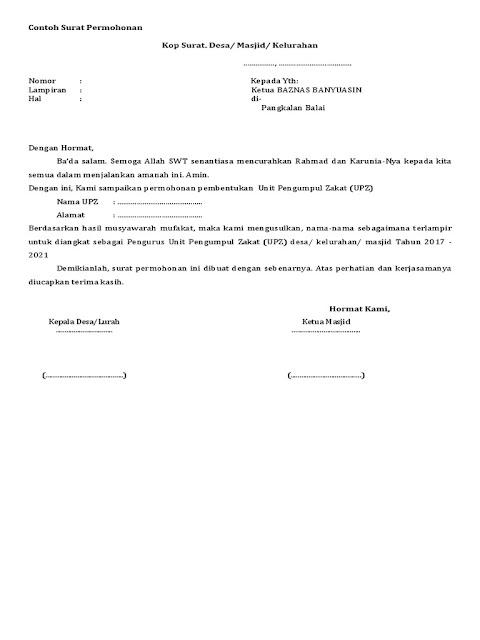 Contoh Surat Permohonan PDF (via: scribd.com)