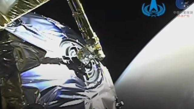 Imágenes dinámicas de la nave espacial china Tianwen-1 entrando en la órbita de Marte