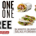Chipotle Mexican Grill Coupon: Buy 1 Get 1 Free Burrito, Burrito Bowl, Salad or Order Of Tacos