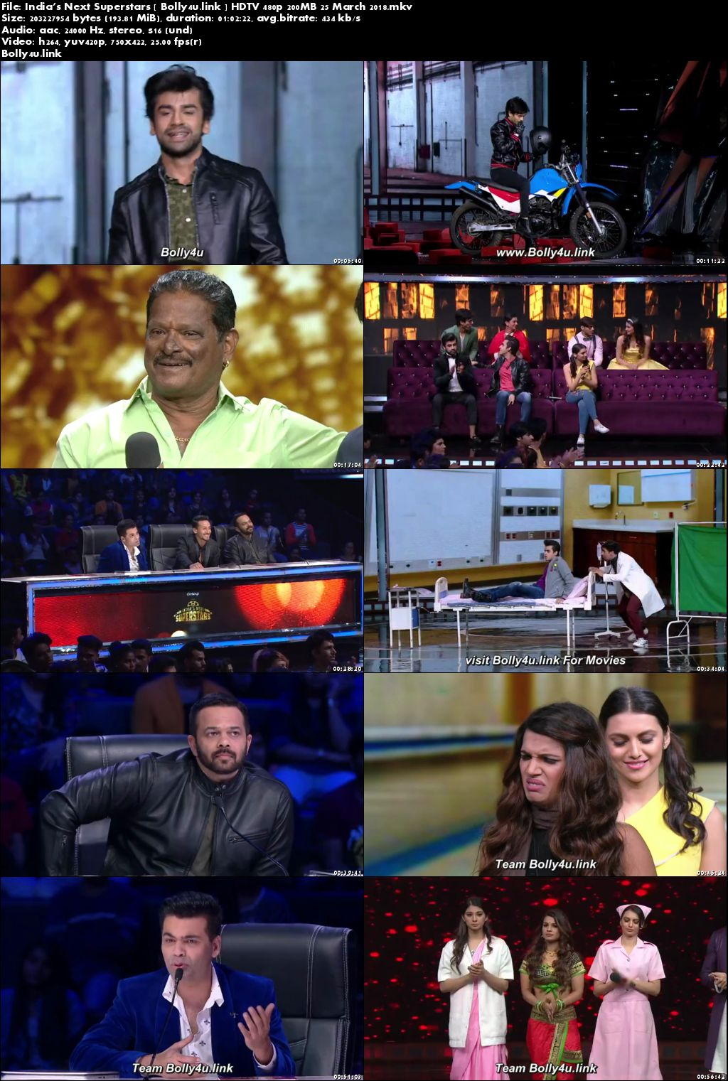 Indias Next Superstars HDTV 480p 200MB 25 March 2018 Download