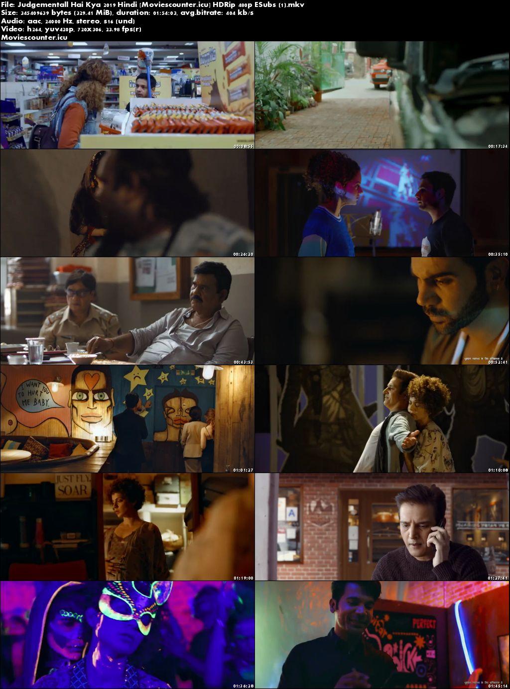 Screen Shots Judgementall Hai Kya 2019 Hindi HD 300Mb