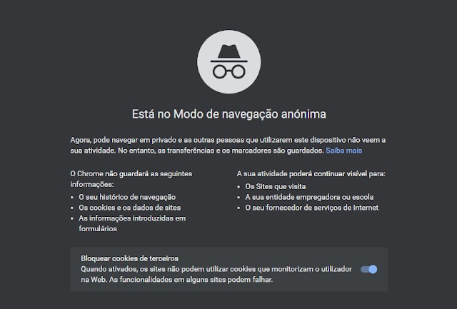 Modo Anónimo no Google Chrome - O que temos que saber?