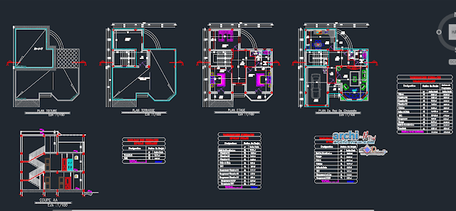 Beautiful villa in AutoCAD