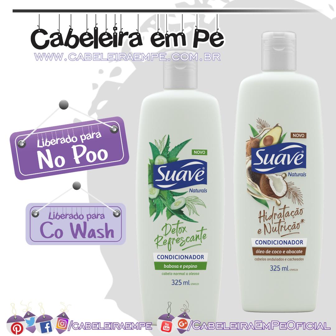 Novos Condicionadores Óleo de Coco e Abacate - Babosa e Pepino - Suave (No Poo e Co Wash)