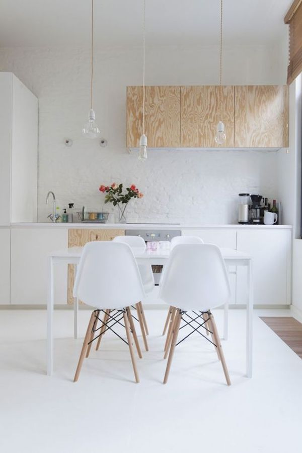 kuchnia, skandynawska, biała, white, drewno