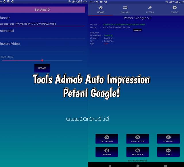Tools admob petani google