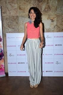 Actress Sarah Jane Dias Pictures at Zubaan Movie Screening 0005
