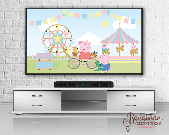 Painel TV Peppa Pig