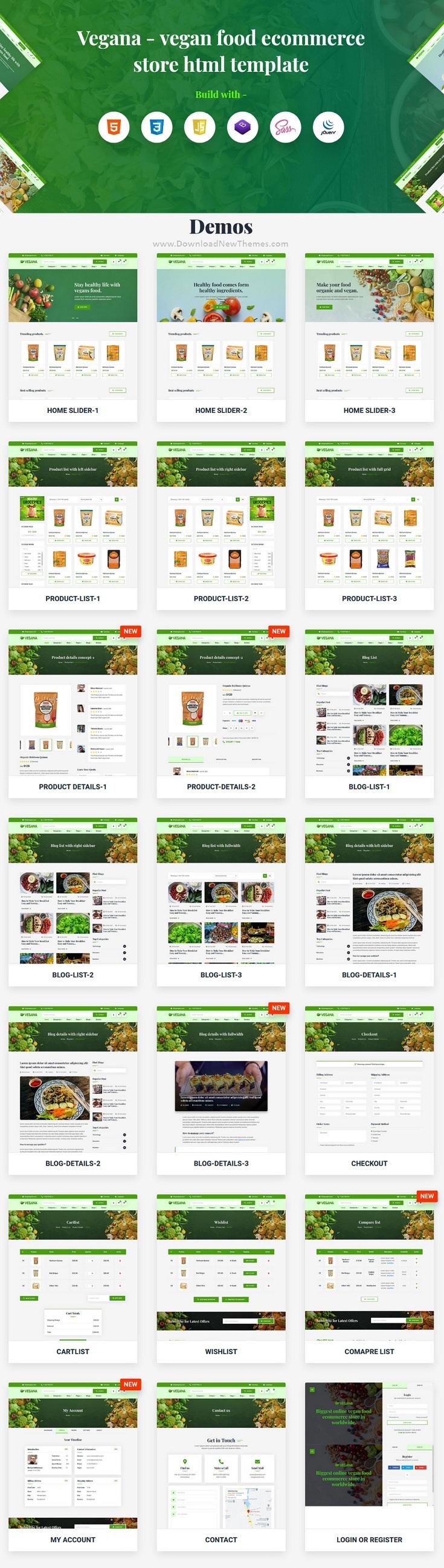 Vegan Food eCommerce HTML Template