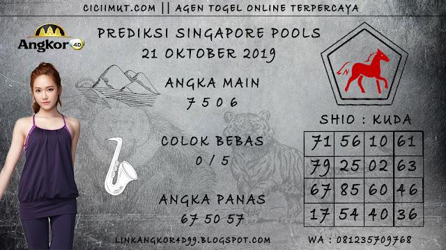 PREDIKSI SINGAPORE POOLS 21 OKTOBER 2019