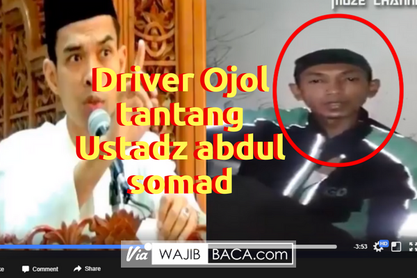 HEBOH!!! Seorang Pria Memakai Jaket Driver Ojol Beraliran Syi`ah Menantang Ustadz Abdul Somad