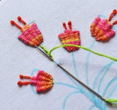 Hướng dẫn thêu hoa tulip - Hình5