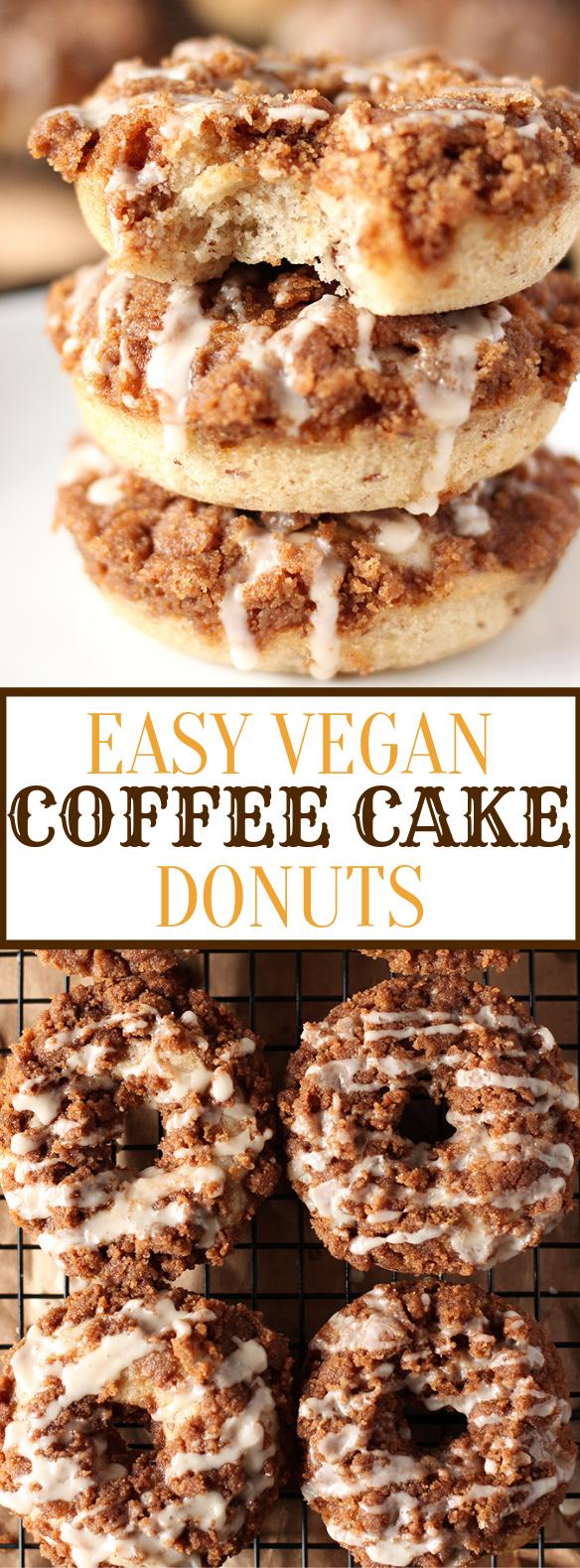EASY VEGAN COFFEE CAKE DONUTS #veganrecipe #vegetarian
