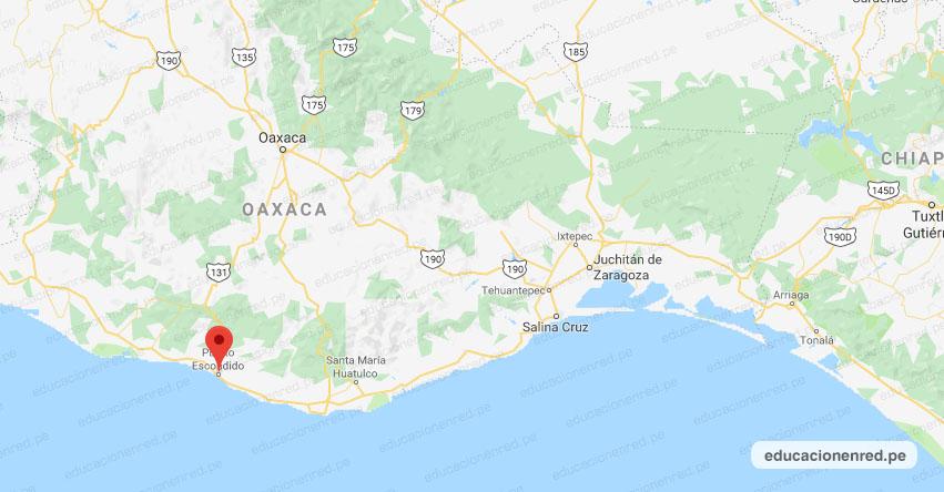 Temblor en México de Magnitud 5.2 (Hoy Viernes 24 Enero 2020) Terremoto - Sismo - Epicentro - Puerto Escondido - Oaxaca - OAX. - SSN - www.ssn.unam.mx
