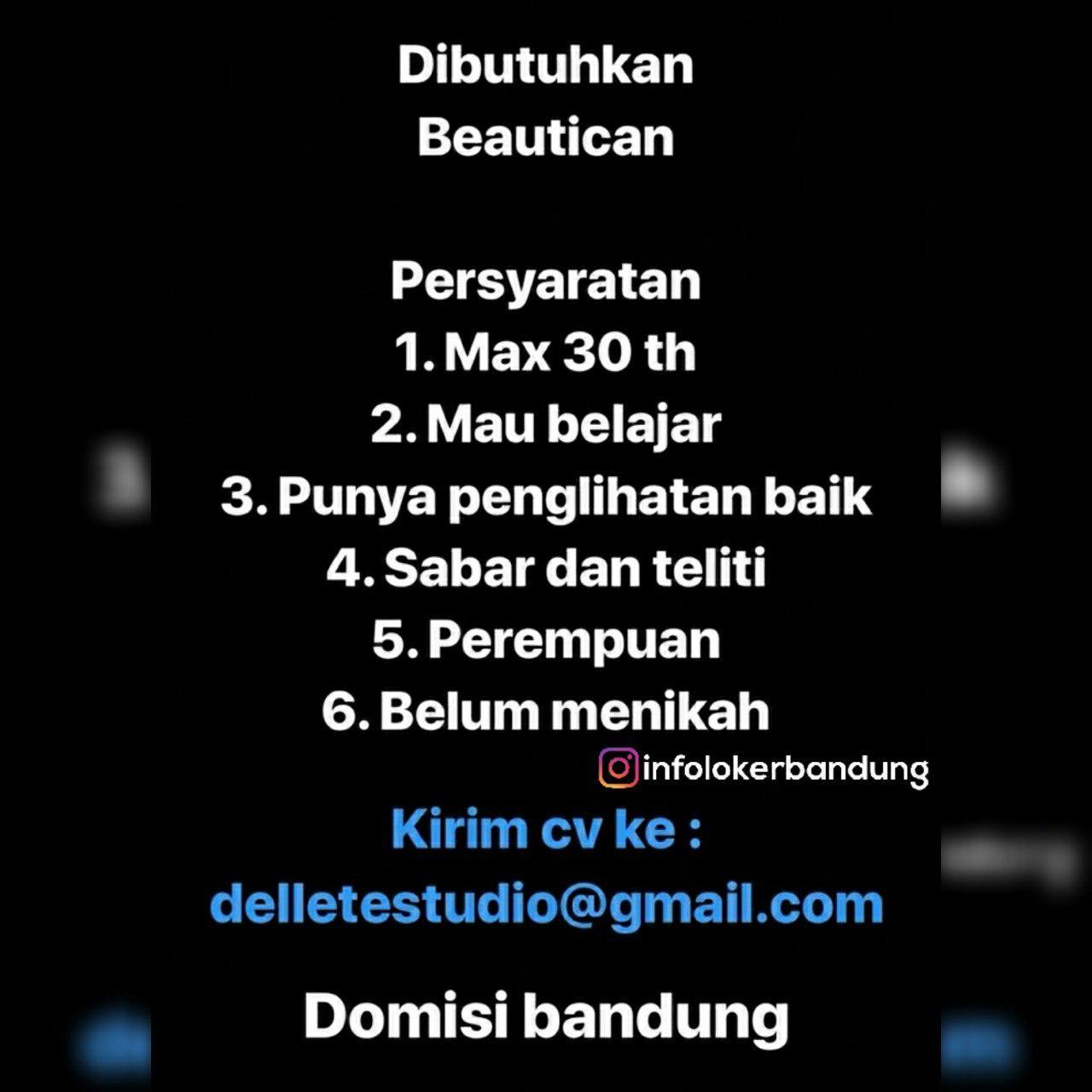 Lowongan Kerja Dellete Studio Bandung Juli 2018