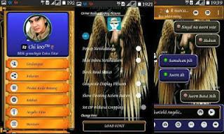 Download BBM Clone Extra Fitur v3.1.0.13 APK (BBM MOD Blue Gold Angelic Theme)