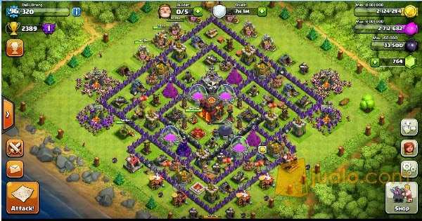 Di jual cepat akun game coc level 98 th 10