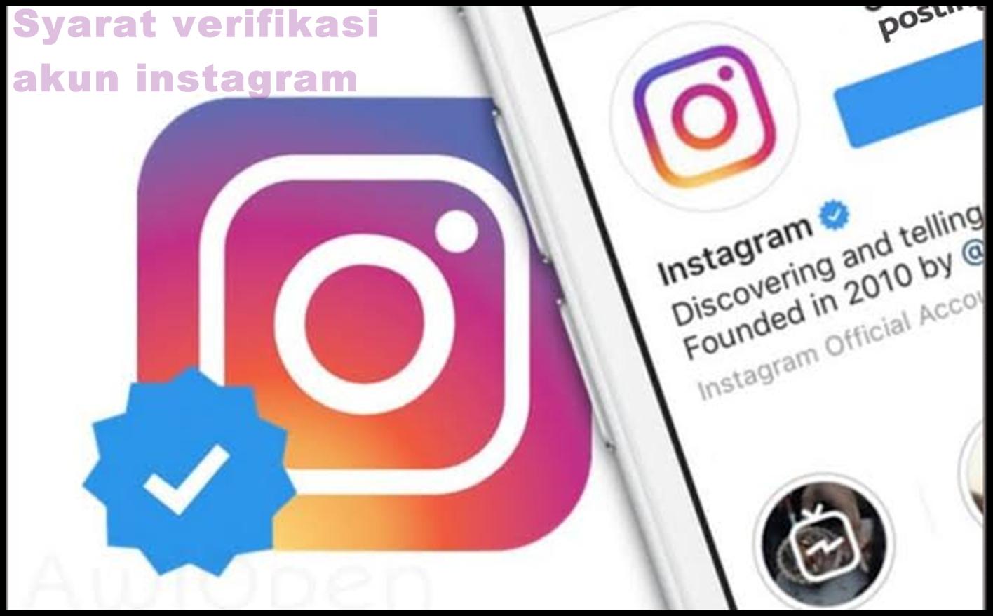 cara verifikasi instagram centang biru