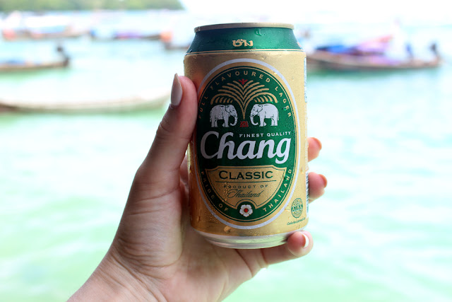 Chang Beer | Thailand boat trip | turquoise waters and beautiful nature | UK travel blog