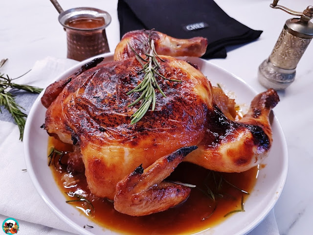 Pollo asado glaseado