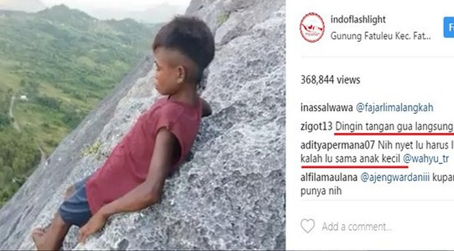 Pemandu Cilik Gunung Fatuleu NTT Ini Gemparkan Media Sosial, Jangan Tonton Videonya Kalau Takut Ketinggian