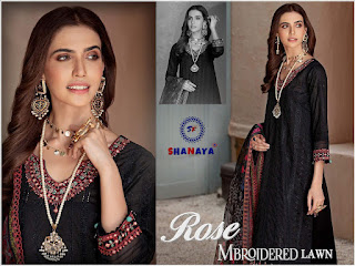 Shanaya Rose Mbroidered Lawn Pakistani Suits catalog