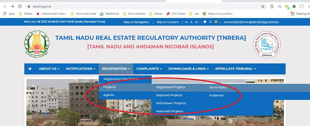 Check the Project status at RERA site