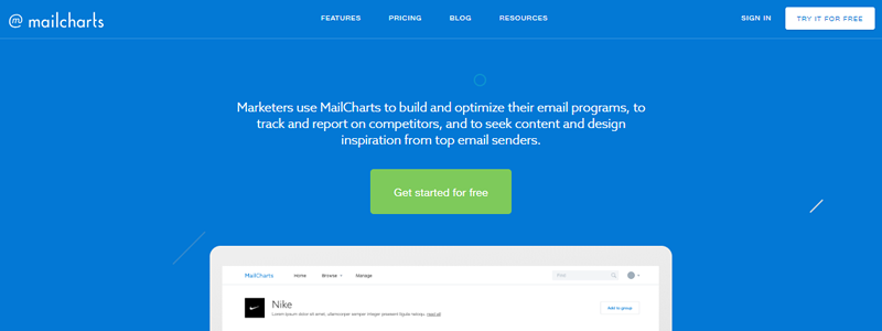 Easily build and optimise your email marketing with Mailcharts