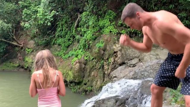 Ο Τομ Μπρέιντι βουτά με την κόρη του από γκρεμό και το διαδίκτυο οργίζεται