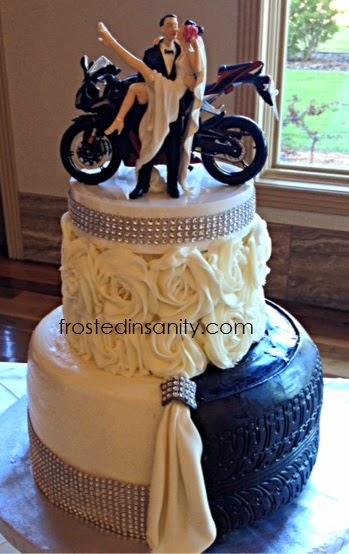 motorbike themed wedding cakes frosted insanity split and groom cake 17596